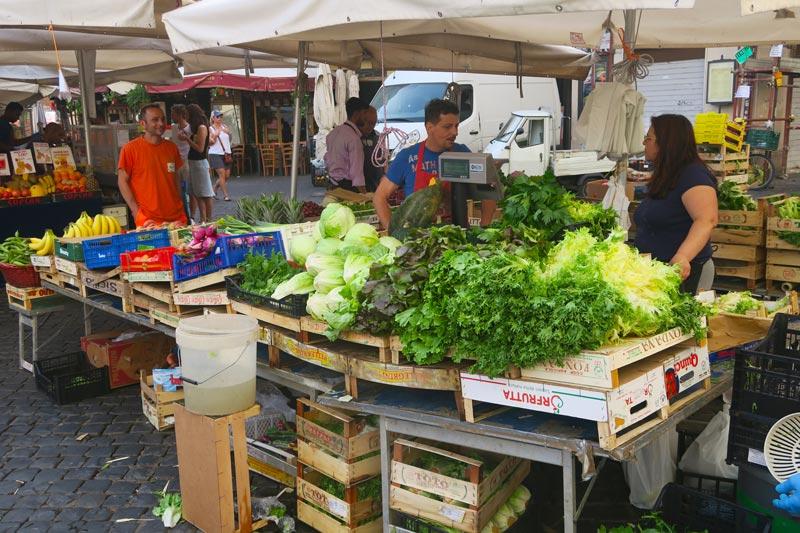Vegetable stand - Campo de Fiori Market- Rome