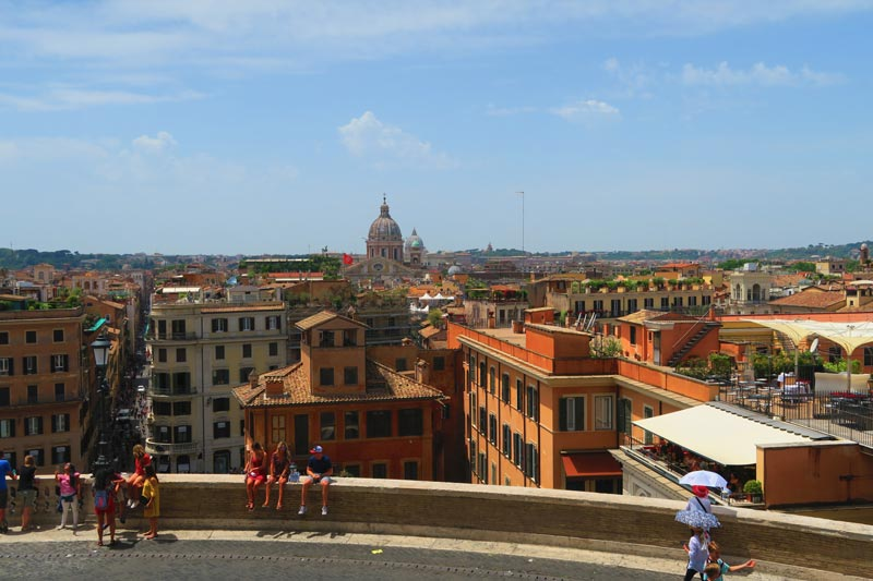 View from the top of The Spanish Steps - Rome