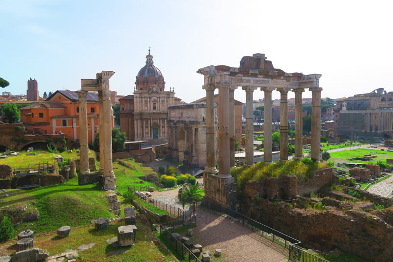 View of Roman Forum from Capitoline Museums Rome
