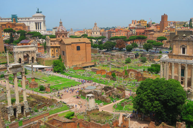 View of Roman Forum from Palatine Hill 2