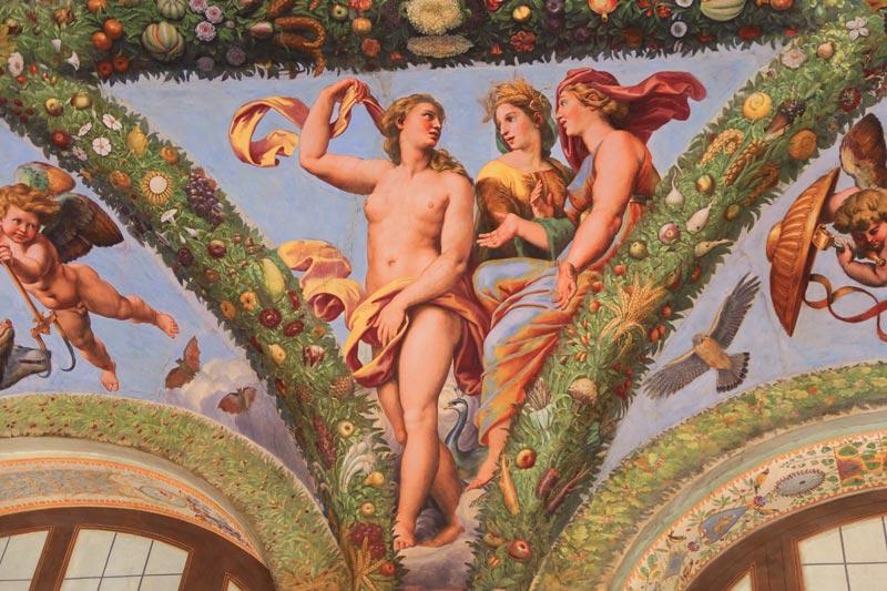 Villa Farnesina Museum Rome - Loggia of Cupid and Psyche