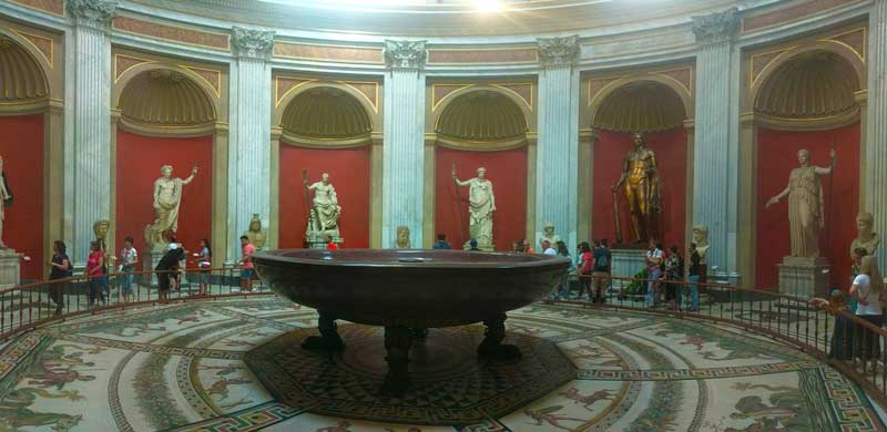 Best Museums In Rome - panoramic view Vatican Museum