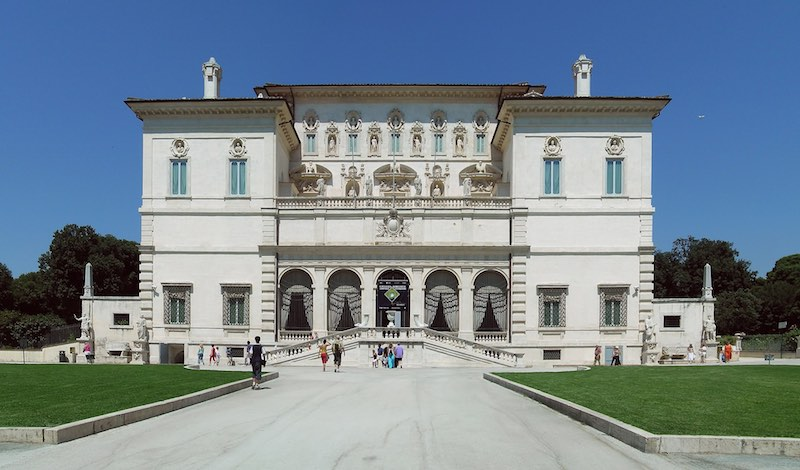 Galleria Borghese- best museums in Rome - Exterior