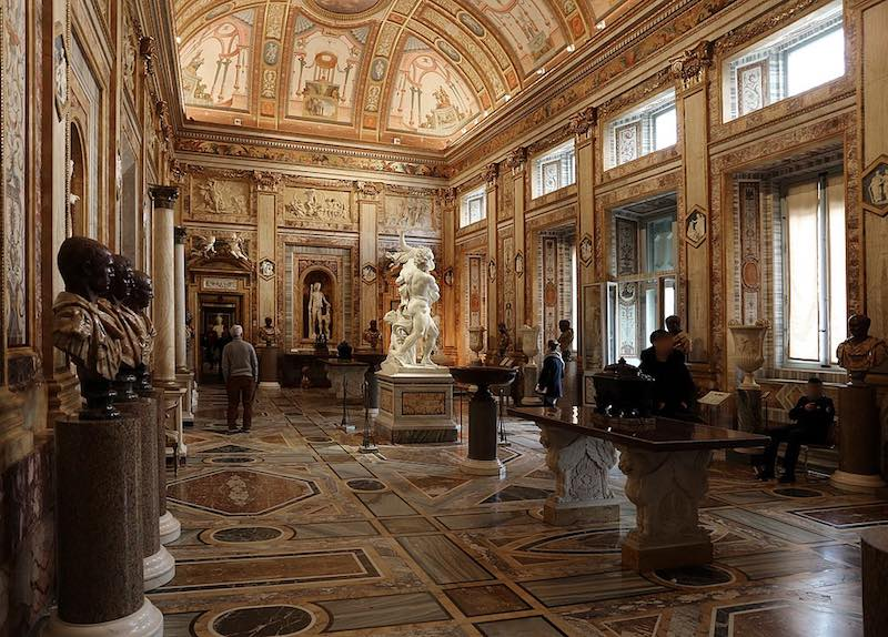 Galleria Borghese- best museums in Rome - interior