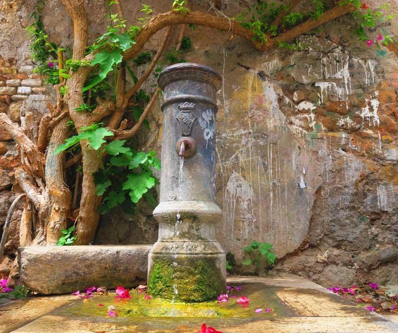 Rome drinking water fountain - Rome Travel Tips