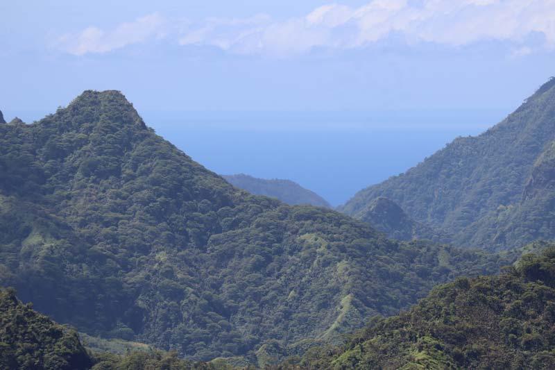Papenoo Valley Tahiti French Polynesia - view of ocean