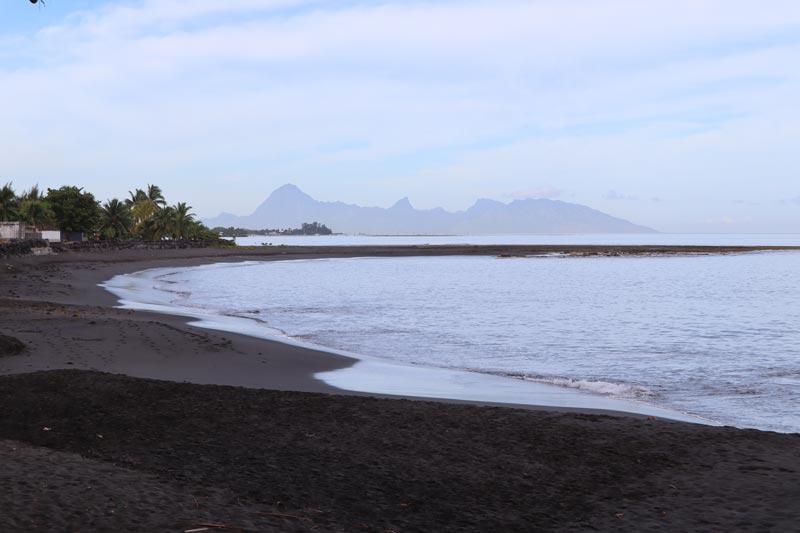Pearl Beach Resort Tahiti French Polynesia - black sand beach