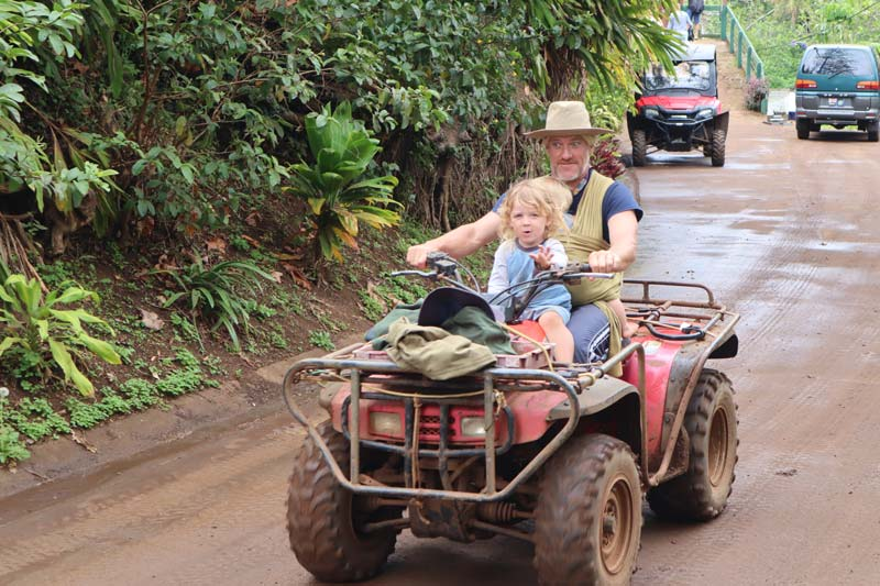 local in Pitcairn Island on quad bike