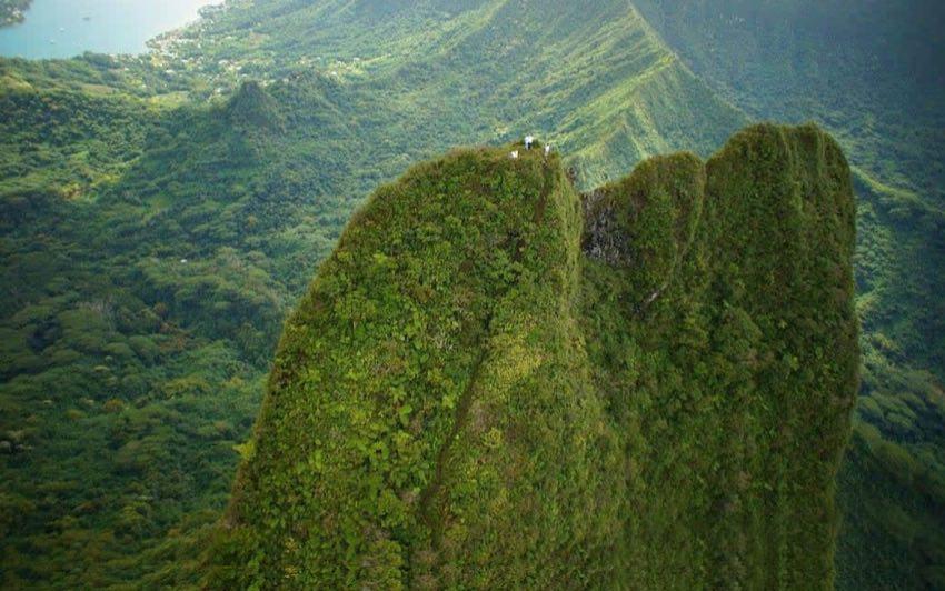 Pierced Mountain - Moorea French Polynesia