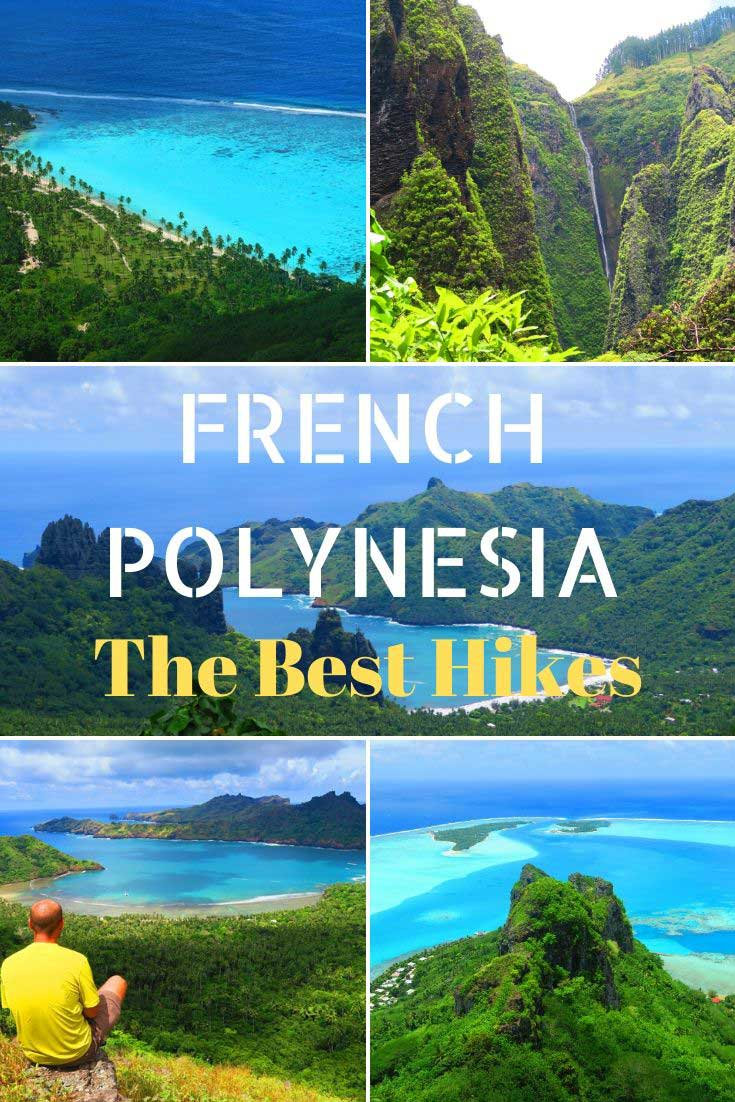 The Best Hikes In French Polynesia Pin