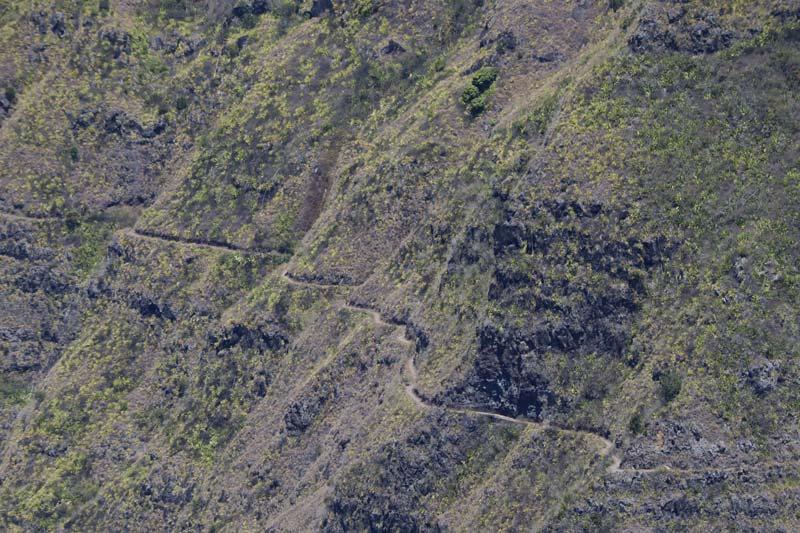 Cap Noir hike - Reunion Island - trail into cirque de mafate