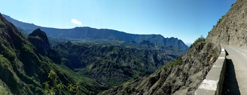 Cilaos to Ilet a Cordes - best scenic drive sin Reunion Island - panoramic view