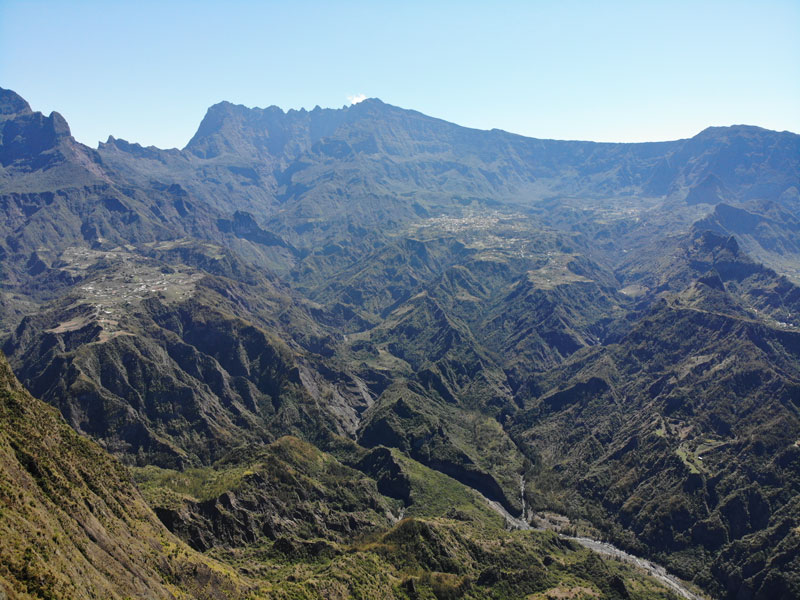 Cirque de Ciloas from La Fenetre des Makes scenic lookout - Reunion Island