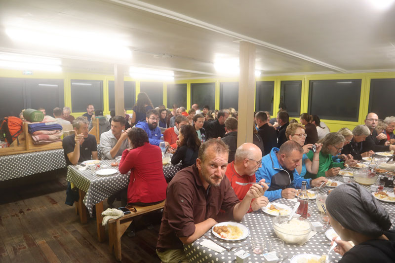 Dinner in Piton des Neiges hike overnight cabin - Reunion Island