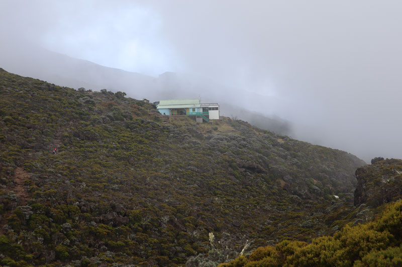 Getting to overnight cabin on Piton des Neiges hike - Reunion Island