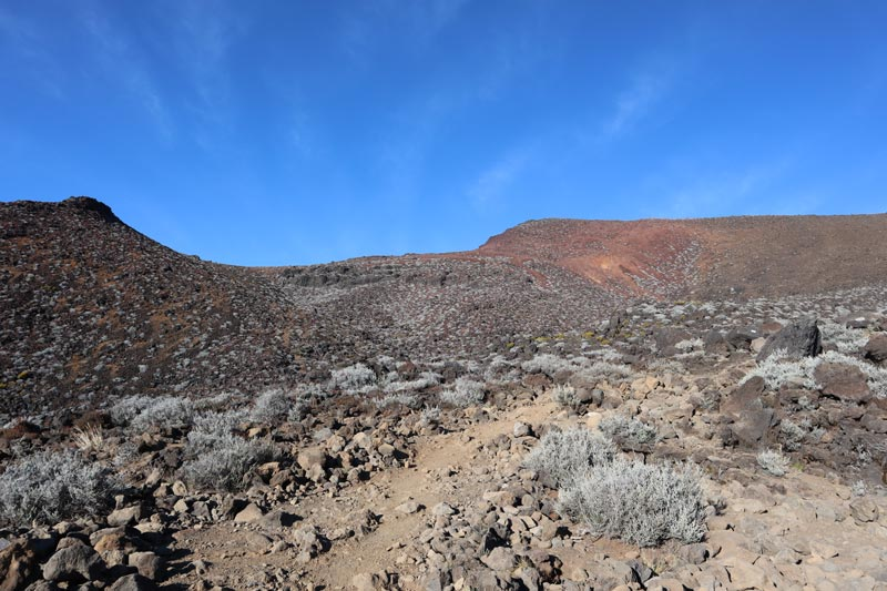 Hiking down from Piton des Neiges Summit - Reunion Island - desert landscape