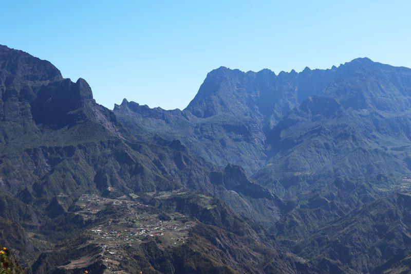 Ilet a cordes hamlet from La Fenetre des Makes scenic lookout - Reunion Island