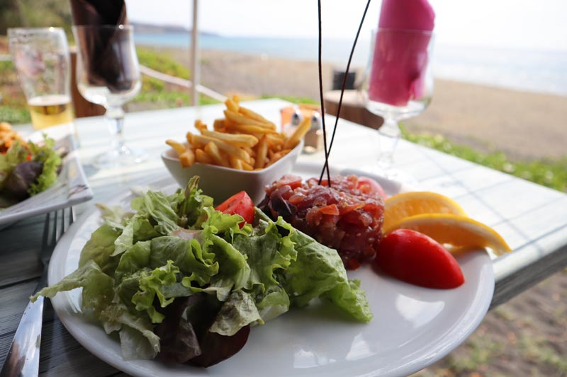 La Capitainerie - tuna tartare- St Paul - Reunion Island restuarant