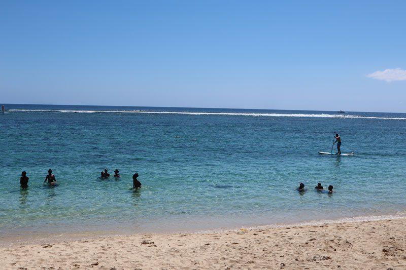 Lagoon in Plage de L'Hermitage - Reunion Island beach