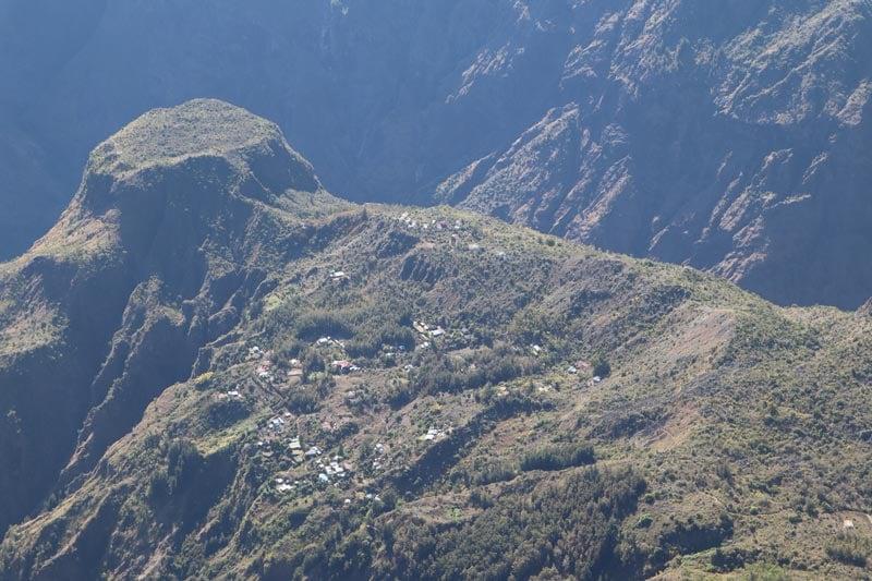 Maido scenic lookout Reunion Island - hamlet in cirque de mafate