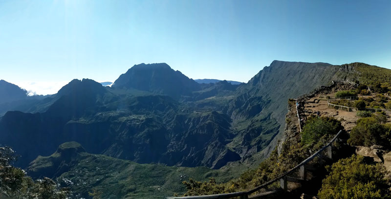 Maido scenic lookout Reunion Island - panoramic view