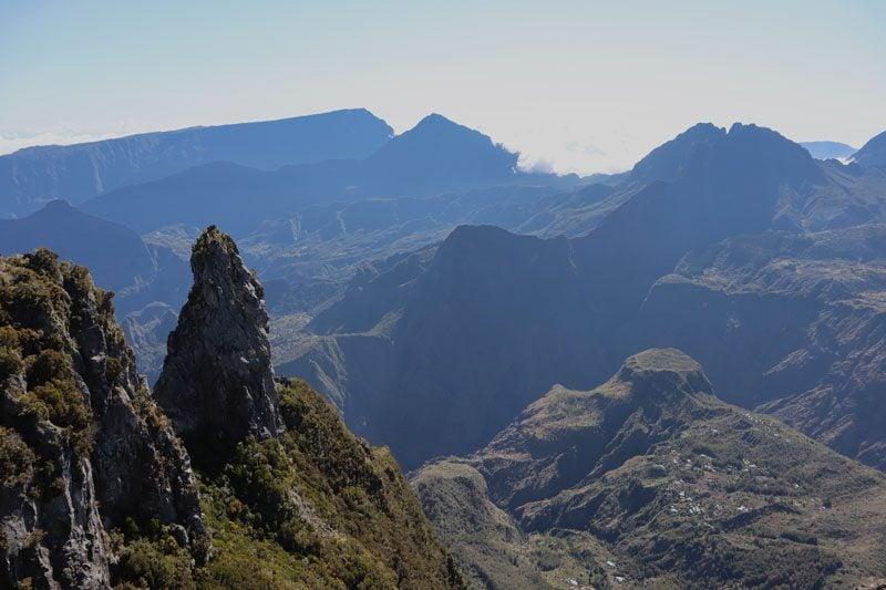 Maido scenic lookout Reunion Island - rock pinnacle