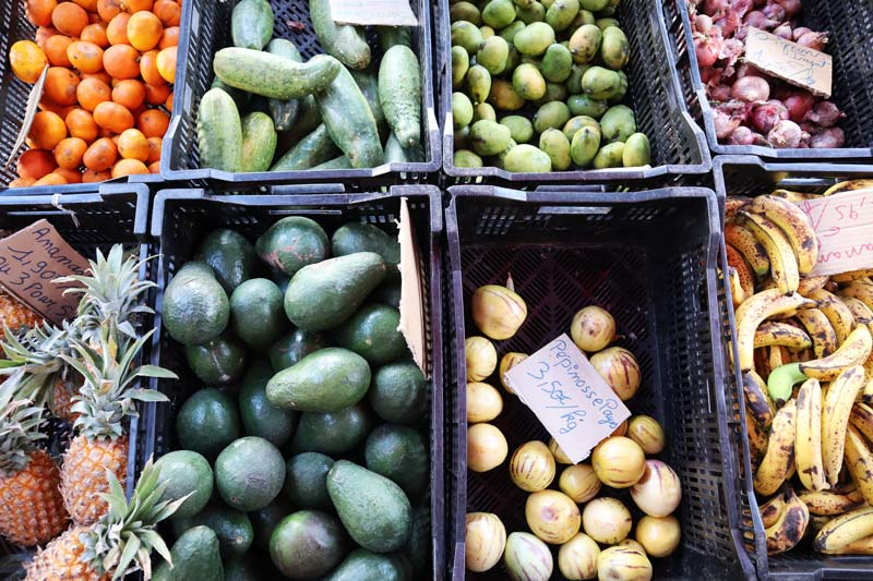 Market in Cilaos - Reunion Island