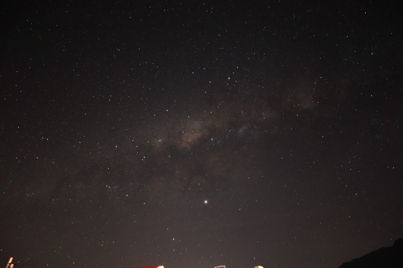 Milky way from Cilaos Reunion Island
