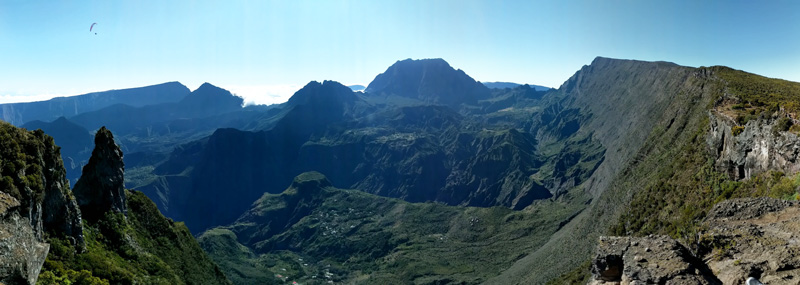 Panoramic view of Le Maido and Cirque de Mafate - Reunion Island