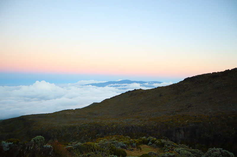 Piton de la Fournaise from Piton des Neiges overnight cabin - Reunion Island