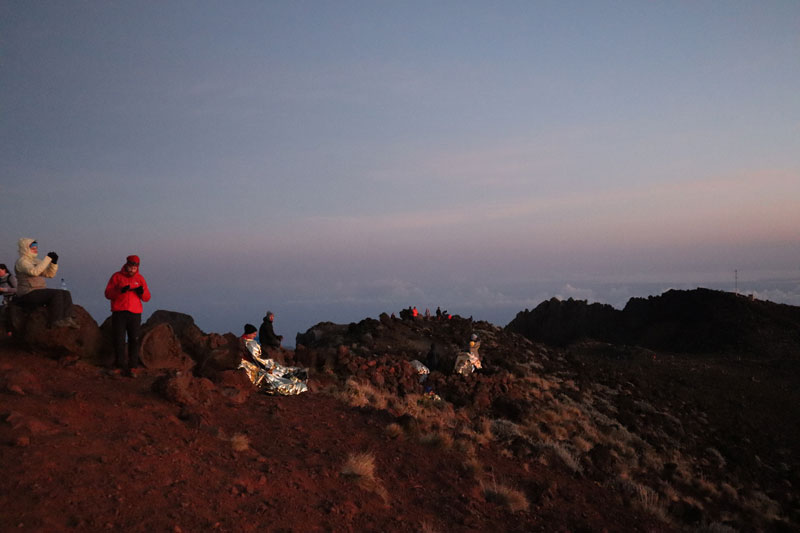 Piton des Neiges hike - Reunion Island -hikers in summit