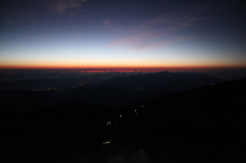 Piton des Neiges hike - Reunion Island - hiking at night to summit