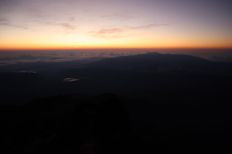 Piton des Neiges hike - Reunion Island - night turning to day
