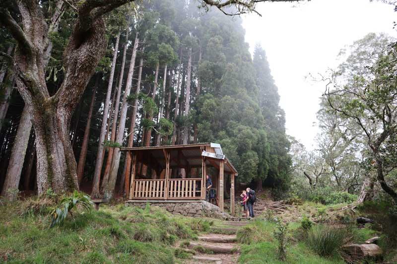 Refuge hut in Piton des Neiges hike - Reunion Island