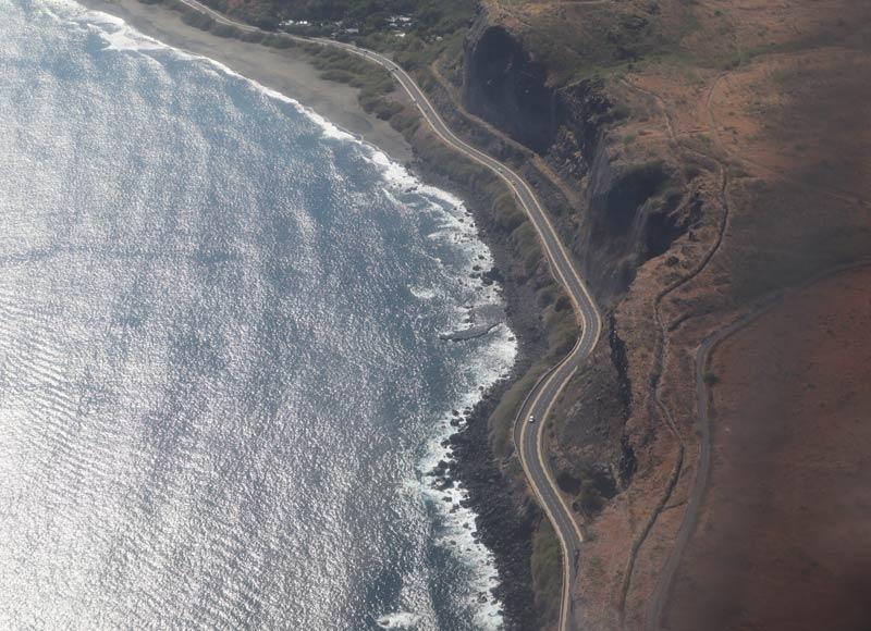 Route des Tamarins Reunion Island aerial view