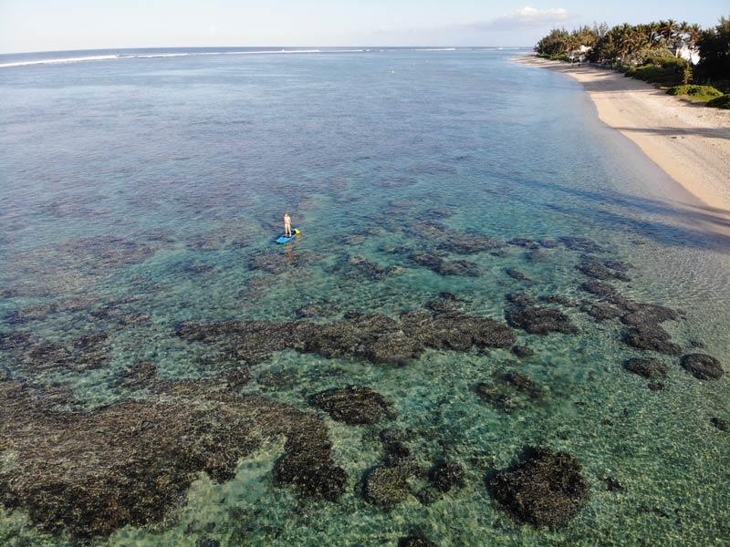 SUP in Plage de la Salines - Reunion Island
