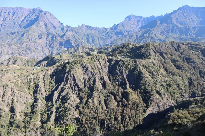 Scenic Drive to Cilaos Reunion Island - remote hamlet