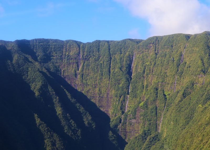 Scenic helicopter flight - Helilagon - Reunion Island - Trou de Fer waterfall from the air