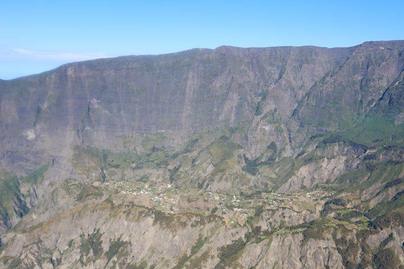Scenic helicopter flight - Helilagon - Reunion Island - cirque de mafate hamlet