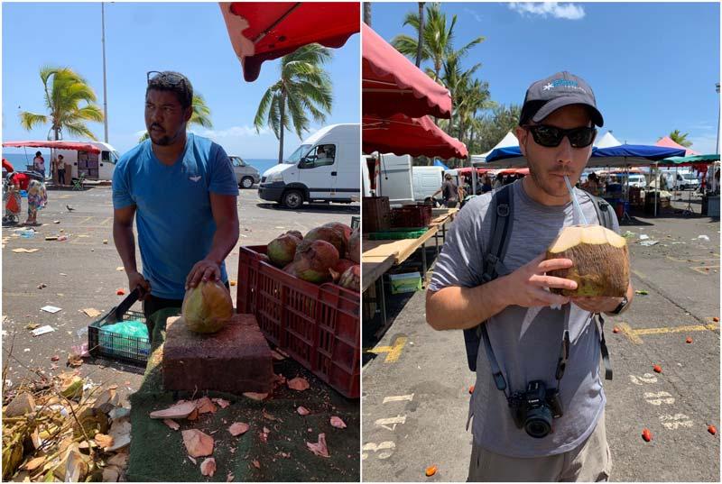 St Paul market Reunion Island - coconut