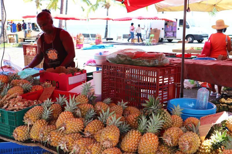 St Paul markSt Paul market Reunion Island - pineapple Reunion Island - pineapple