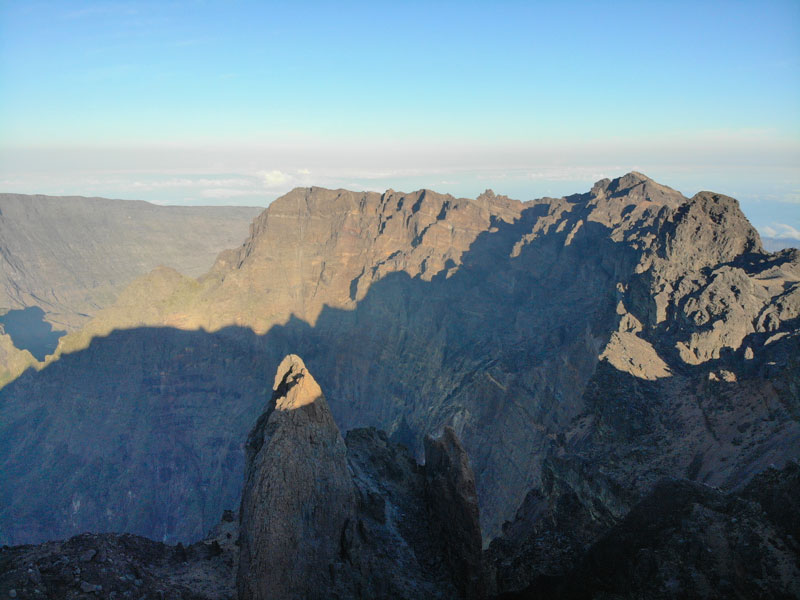 Summit of Piton des Neiges Hike - Reunion Island - Three Sisters and pinnacle