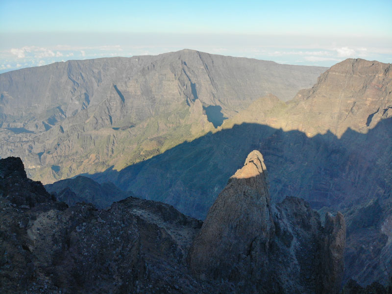 Summit of Piton des Neiges Hike - Reunion Island - pinnacle rising