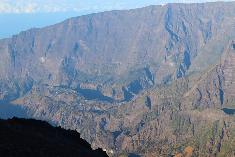 Summit of Piton des Neiges Hike - Reunion Island - view towardsIlet a Cordes