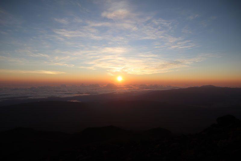 Sunrise from Piton des Neiges summit - Reunion Island