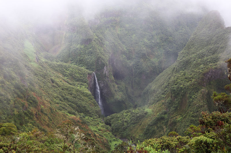 Trou de Fer - Reunion Island highest waterfall - from viewing area