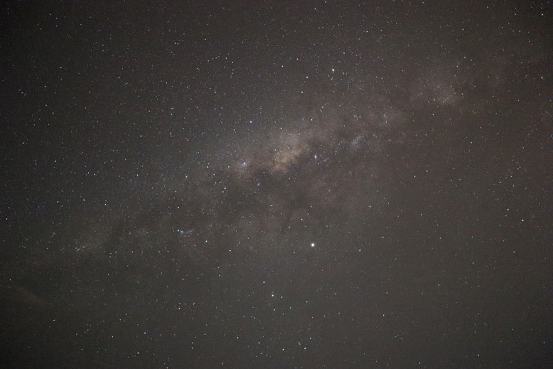 View of Milky way from Reunion Island