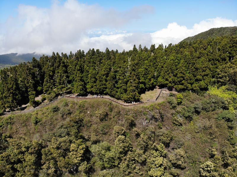 aerial view of La Fenetre des Makes scenic lookout - Reunion Island