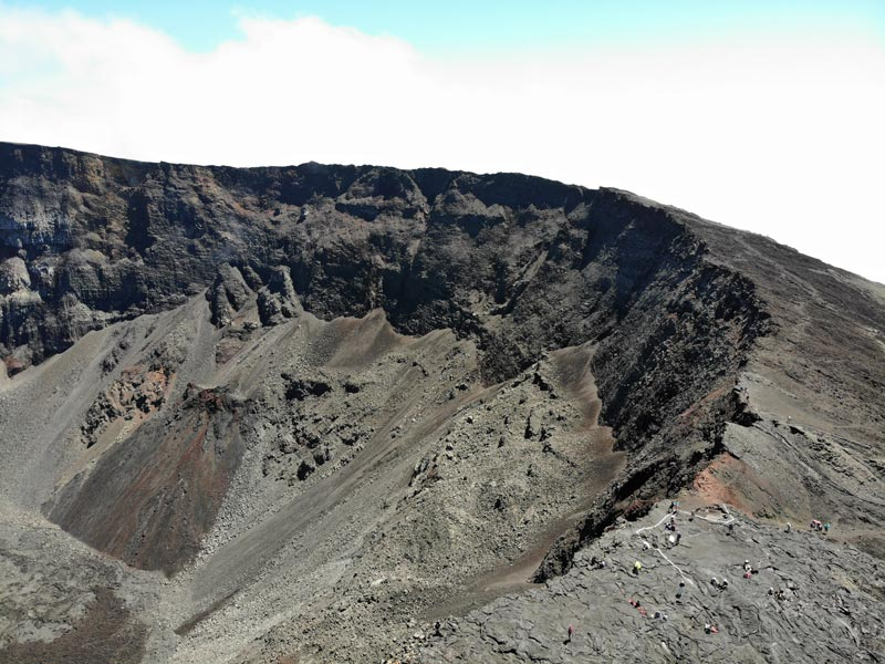 Aerial view of Dolomieu Crater - Piton de la Fournaise - Reunion Island