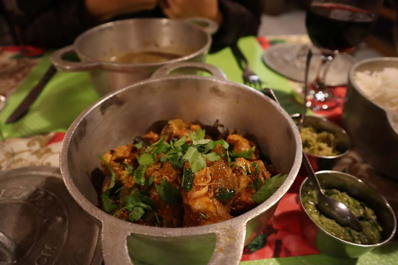 Chez Alice - typical creole restuarant - Hell Bourg - Reunion Island - chicken curry